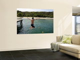 Jumping of Wharf at Chowder Bay Prints by Oliver Strewe