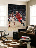 Chicago Bulls v Atlanta Hawks - Game Three, Atlanta, GA - MAY 6: Keith Bogans and Jeff Teague Print by Scott Cunningham