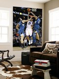 Minnesota Timberwolves v Golden State Warriors: Nikola Pekovic, Michael Beasley and Monta Ellis Poster by  Ezra