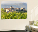 Vineyard and Village, Volpaia, Tuscany, Italy Print by Peter Adams