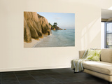Granite Rocks at Anse Source D'Argent Beac Posters by Holger Leue