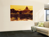 St Peter's Basilica and Ponte Saint Angelo, Rome, Italy Art by Doug Pearson