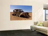 Old Abandoned Car in Fallow Field Poster by Greg Elms