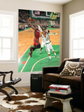 Miami Heat v Boston Celtics - Game Three, Boston, MA - MAY 7: Dwyane Wade and Paul Pierce Prints by Brian Babineau