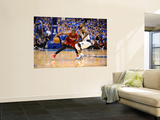 Miami Heat v Dallas Mavericks - Game Four, Dallas, TX -June 7: Dwyane Wade and DeShawn Stevenson Prints by Garrett Ellwood