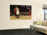 Miami Heat v Chicago Bulls - Game Five, Chicago, IL - MAY 26: Dwyane Wade and Derrick Rose Print by Mike Ehrmann