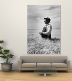 Farmer Posing in His Wheat Field Prints by Ed Clark
