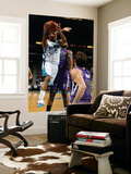 Sacramento Kings v New Orleans Hornets: Marcus Thornton and DeMarcus Cousins Art by Chris Graythen