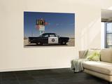 1956 Dodge Coronet Police Cruiser at Roys Motel and Cafe in Amboy Kunstdrucke von Witold Skrypczak