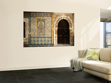Mosaics and the Entrance Door to Gurgi Mosque in the Old City Poster by Frans Lemmens