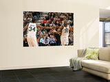 Denver Nuggets v Utah Jazz, Salt Lake City, UT - March 3: Al Jefferson and C.J. Miles Prints by Melissa Majchrzak