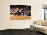 Dallas Mavericks v Miami Heat - Game One, Miami, FL - MAY 31: Jason Terry and Chris Bosh Print by Andrew Bernstein