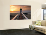 Brant Point Lighthouse, Nantucket Island, Massachusetts, USA Print by Walter Bibikow