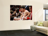 Miami Heat v Chicago Bulls - Game Two, Chicago, IL - MAY 18: Luol Deng, Derrick Rose, Kyle Korver a Prints by Gregory Shamus