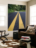 Yellow Road Markings, Maui, Hawaii Print by Holger Leue
