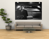 VP Richard Nixon Sitting Solemnly in Back Seat of Dimly Lit Limousine Prints by Hank Walker