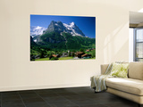 Town and Mountains, Grindelwald, Alps, Switzerland Prints by Steve Vidler