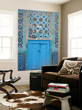 Blue Door, Shrine of Hazrat Ali Print by Jane Sweeney