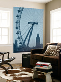 London Eye and Big Ben, South Bank, London, England Prints by Alan Copson