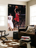 Miami Heat v Portland Trail Blazers, Portland, OR - January 9: Marcus Camby and Dwayne Wade Prints by Sam Forencich