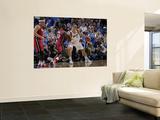 Miami Heat v Dallas Mavericks - Game Three, Dallas, TX -June 5: Dirk Nowitzki and Joel Anthony Prints by Glenn James