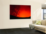 Yasur Volcano Lava Explosion, Tanna Island, Tafea, Vanuatu Posters by Peter Hendrie