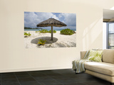 Sun Shade on Beach, Taj Denis Island Resort, Denis Island, Seychelle Poster by Holger Leue