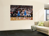 Dallas Mavericks v Miami Heat - Game One, Miami, FL - MAY 31: Dirk Nowitzki and DeShawn Stevenson Print by Nathaniel S. Butler