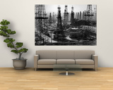 Forest of Wells, Rigs and Derricks Crowd the Signal Hill Oil Fields Art by Andreas Feininger