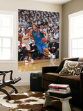 Dallas Mavericks v Miami Heat - Game One, Miami, FL - MAY 31: Dirk Nowitzki and Chris Bosh Prints by Victor Baldizon