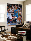 New Orleans Hornets v Denver Nuggets, Denver - January 9: David West and Nene Posters by Garrett Ellwood