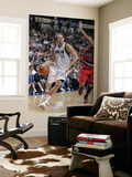 Portland Trail Blazers v Dallas Mavericks: Dirk Nowitzki and Brandon Roy Posters by Glenn James