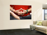 Yoga Hands in Yogic Mudra Pose Plakater af Christer Fredriksson