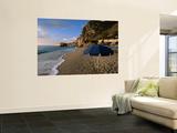 Umbrella on Kathisma Beach, Lefkada Island, Ionian Islands, Greece Posters by Doug McKinlay