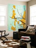 Rachel Lewis - Detail of Tree Branch Against Wall with Peeling Paint - Sanat
