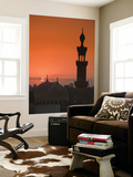 Egypt, Cairo, Islamic Quarter, Silhouette of Minarets and Mosques Print by Michele Falzone