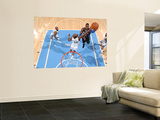 Orlando Magic v Denver Nuggets: Dwight Howard and Melvin Ely Print by Garrett Ellwood