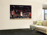 Miami Heat v Chicago Bulls - Game Five, Chicago, IL - MAY 26: Derrick Rose and LeBron James Prints by Mike Ehrmann