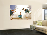 Children Playing on Swings from Below Plakater af David Hannah
