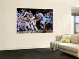 Oklahoma City Thunder v Dallas Mavericks - Game Five, Dallas, TX - MAY 25: Jason Terry and James Ha Poster by Glenn James