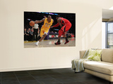 Atlanta Hawks v Los Angeles Lakers, Los Angeles, CA - February 22: Kobe Bryant and Josh Smith Prints by Jeff Gross