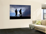 Two Men Hiking to Pacaya Volcano Prints by Mark Newman