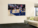 Orlando Magic v Atlanta Hawks - Game Three, Atlanta, GA - APRIL 22: Kirk Hinrich, Jameer Nelson and Art by Scott Cunningham