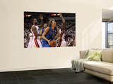 Dallas Mavericks v Miami Heat - Game Two, Miami, FL - JUNE 02: Dirk Nowitzki, Joel Anthony and Udon Prints by Mike Ehrmann