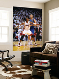 Dallas Mavericks v Miami Heat - Game Six, Miami, FL - June 12: Chris Bosh and Dirk Nowitzki Prints by Garrett Ellwood