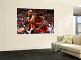 Miami Heat v Chicago Bulls - Game Two, Chicago, IL - MAY 18: Udonis Haslem and Taj Gibson Posters by Jonathan Daniel