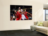 Houston Rockets v Sacramento Kings: DeMarcus Cousins, Shane Batter and Luis Scola Prints by Rocky Widner