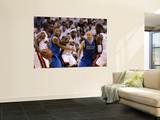 Dallas Mavericks v Miami Heat - Game One, Miami, FL - MAY 31: Dwyane Wade, LeBron James, Shawn Mari Print by Ronald Martinez