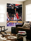 Houston Rockets v Sacramento Kings: Luis Scola and Beno Udrih Prints by Rocky Widner