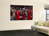 Miami Heat v Milwaukee Bucks, Milwaukee, WI - January 07: LeBron James, Dwyane Wade and Chris Bosh Art by Gary Dineen